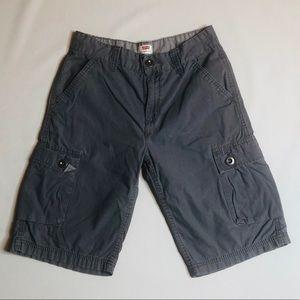 Levi's boys gray cargo shorts size 14